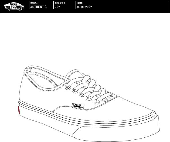 vans authentic template